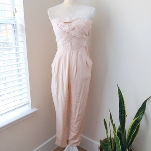 ASOS Strapless Jumpsuit  Blush Pink  Sz 4